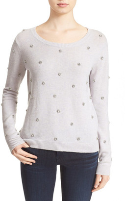 Joie &Myron C& Embellished Wool & Cashmere Pullover $368 thestylecure.com