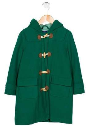 Boden Mini Girls' Wool-Blend Hooded Coat