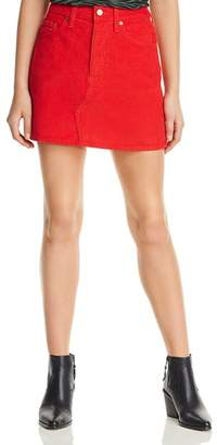 Levi's Deconstructed Corduroy Mini Skirt in Red