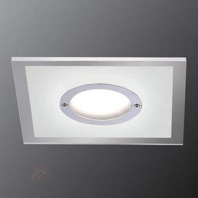 Eckiger, dimmbarer LED-Spot Lumeco, Acryl