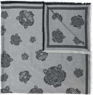 Kenzo multi print tiger scarf