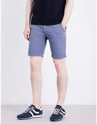 BOSS Slim-fit mid-rise cotton shorts