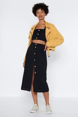 Nasty Gal I've Got You Babe Crop Top and Midi Skirt Set