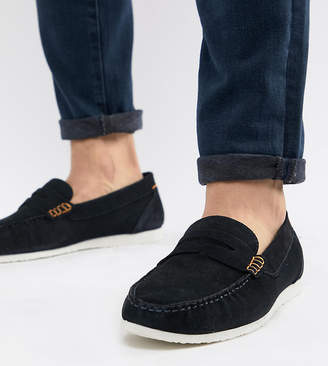 fc79b3747 Silver Street Wide Fit Loafers In Navy Suede