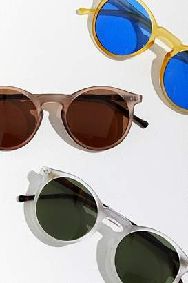 Urban Outfitters Matte Crystal Plastic Round Sunglasses