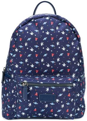 fe-fe space print backpack