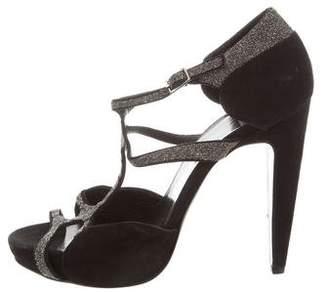 Pierre Hardy Embellished Suede Sandals