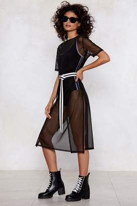 Nasty Gal Slit Me with Your Best Shot Mesh Dress