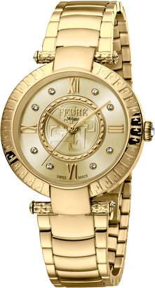Ferré Milano 36mm Bracelet Watch w/ Logo Bezel, Gold