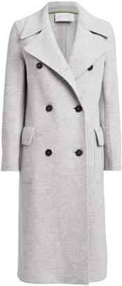 Harris Wharf London Boiled Wool Double Breasted Military Coat