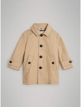 Burberry Detachable Hood Mercerised Cotton Trench Coat