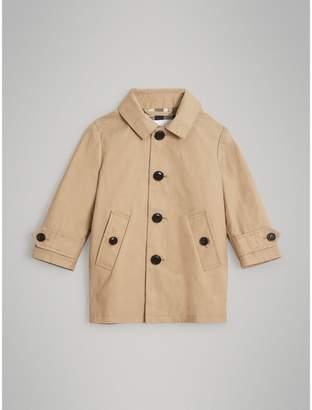 Burberry Detachable Hood Mercerised Cotton Trench Coat