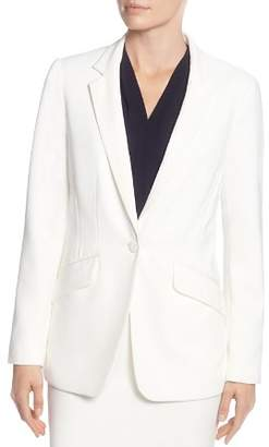 T Tahari One-Button Blazer