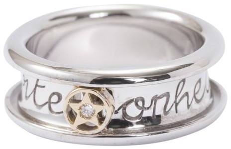 Christian Dior Christian Dior 18k White and Yellow Gold Ring Size 5.25