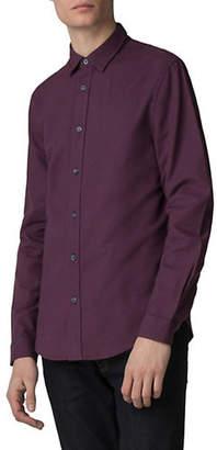Ben Sherman Dobby Geo Long-Sleeve Sport Shirt