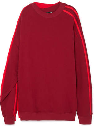 Y/Project Oversized Layered Cotton-jersey Sweatshirt