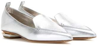 Nicholas Kirkwood Botalatto Beya metallic leather loafers