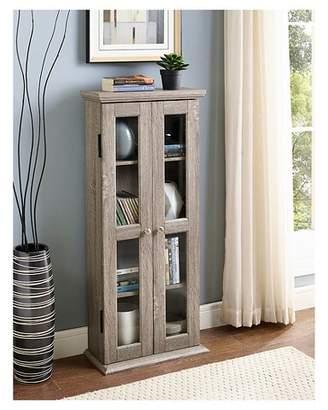 "Saracina Home 41"" Wood Media Storage Tower Cabinet"