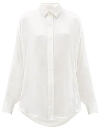 Katharine Hamnett Nicola Silk Satin Shirt - Womens - White