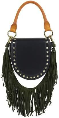 Sacai Navy Leather Handbag