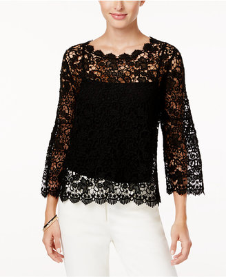 Alfani Cotton Crocheted Top, Created for Macy's $89.50 thestylecure.com