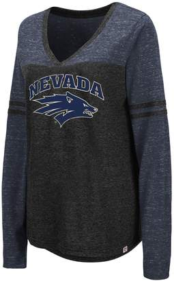 NCAA Unbranded Women's Foothills 3/4 Sleeve Tee - Nevada Wolf Pack