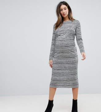 Asos (エイソス) - Asos Maternity ASOS MATERNITY Twist Back Bodycon Dress in Stripe