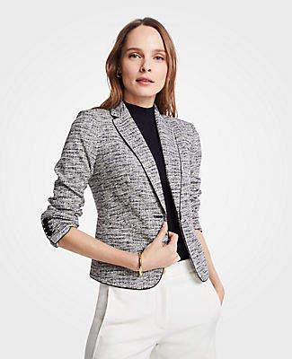 Ann Taylor The Newbury Blazer in Marled Knit