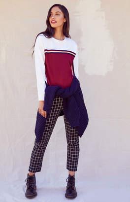 Me To We Striped Fleece Sweatshirt