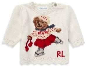 Ralph Lauren Baby Girl's Holiday Bear Sweater