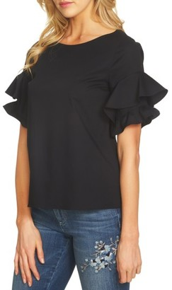 Women's Cece Ruffle Sleeve Poplin Top $69 thestylecure.com