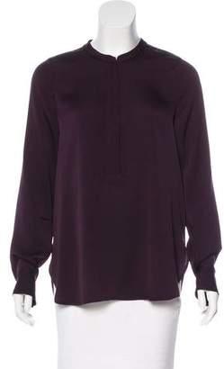 Vince Long Sleeve Silk Top