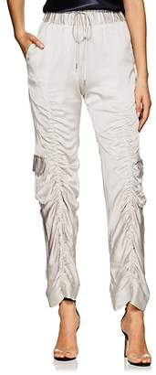 MANNING CARTELL Women's Off Duty Ruched Tech-Satin Cargo Pants