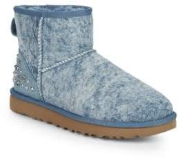 UGG Mini Embellished Shearling Booties