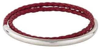 Christofle Leather Wrap Bracelet