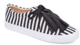 Loeffler Randall Logan Tassel Striped Sneakers