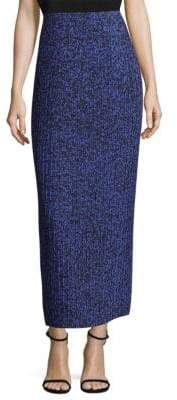 SOLACE London Sana Pleated Noise Print Column Skirt