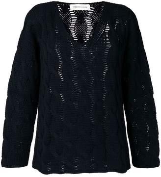 Lamberto Losani cashmere open knit sweater
