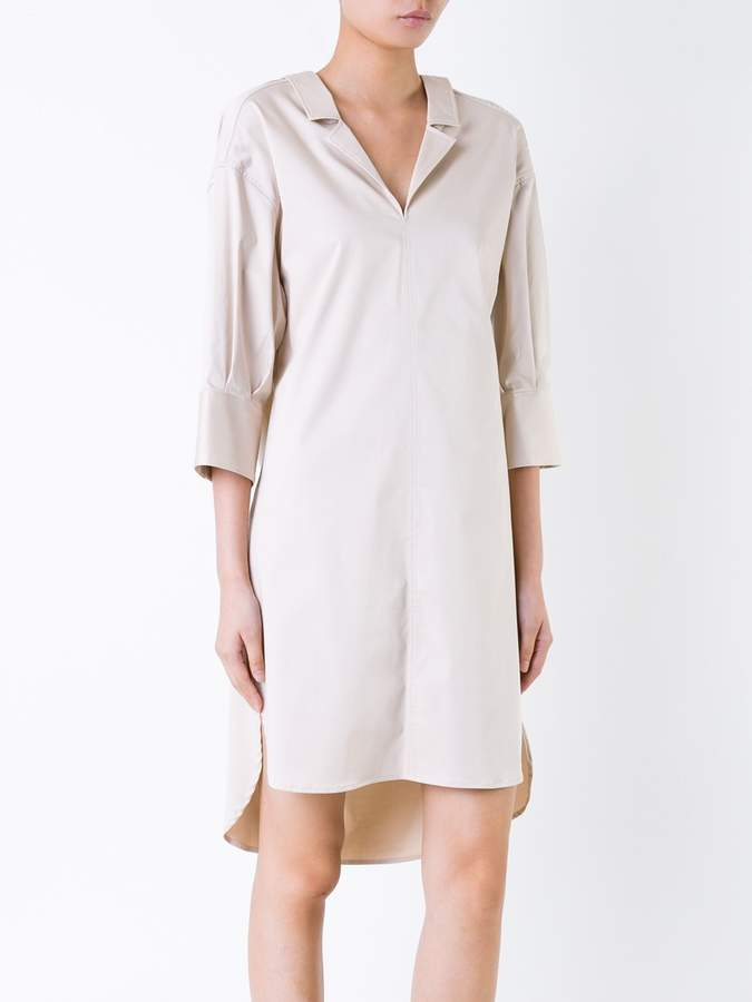 Miharayasuhiro scoop back shirt dress