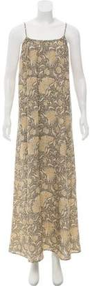 Vince Printed Silk Maxi Dress