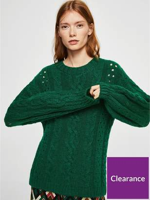 MANGO Openwork Cable Knit Jumper