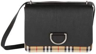 Burberry Medium Check D-Ring Cross Body Bag