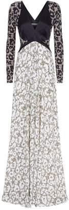Roberto Cavalli Leopard Print Panelled Gown