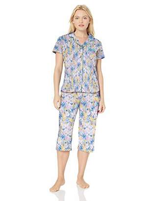 Karen Neuburger Women's Petite Short-Sleeve Pajama Set PJ with Moisture Wicking Technology,PXL