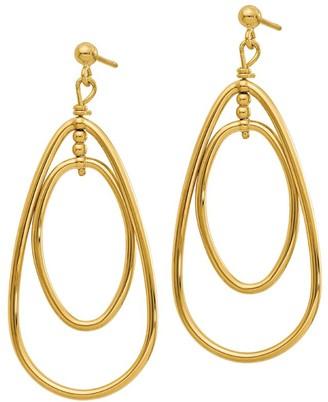 Italian Gold Teardrop Dangle Earrings, 14K