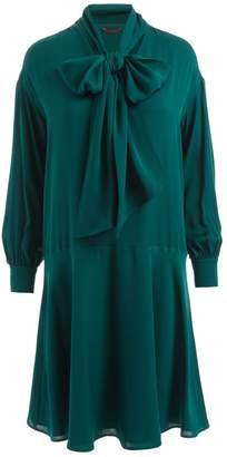 WtR - Sapphire Silk Bow Dress Emerald Green