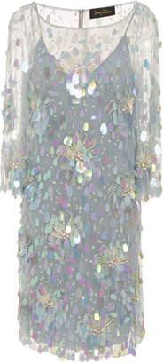 Jenny Packham Amur 3/4 Sleeve Sequin Knee Length Dress