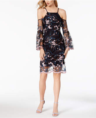 Nanette Lepore Nanette by Embroidered Cold-Shoulder Dress, Created for Macy's