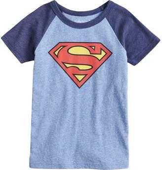 a301bab67fe970 Boys 4-10 Jumping Beans DC Comics Superman Logo Raglan Graphic Tee
