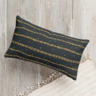 Dashed Dashes Self-Launch Lumbar Pillows